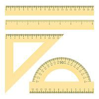 Vector illustration of various rulers and protractor Stock Photo - Royalty-Freenull, Code: 400-08406890