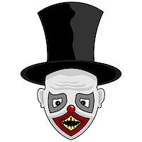 scary face with a tall hat for you Stock Photo - Royalty-Freenull, Code: 400-08407778