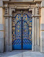 Traditional european vivid facade with entance door Stock Photo - Royalty-Freenull, Code: 400-08433342