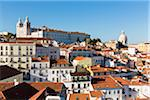 View of the Alfama District, Largo das Portas do Sol, Lisbon, Portugal