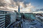 View from City Hall rooftop over London skyline, London, England, United Kingdom, Europe