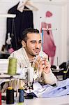 Tailor in studio
