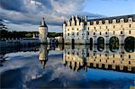 Castle of Chenonceau, dated 1513 to 1521, Renaissance style, over the Cher River, Indre et Loire, Loire Valley, UNESCO World Heritage Site, Centre, France, Europe