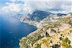 Scenic views of the Amalfi Coast from the famous hiking trail of Sentiero degli Dei (Path of the Gods), Italy
