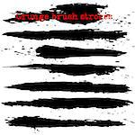 Black ink vector brush strokes. Vector illustration. Grunge texture