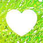 Hand drawn Heart symbol. Vector calligraphy Green Heart. Grunge Heart. Heart Shape. Distressed Heart. Heart Texture. Valentine's Day Heart. March 8 Women's Day. Brush Stroke Heart. Lines Heart Background