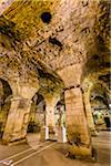 Basement Halls of Diocletian's Palace in the Old Town of Split in Split-Dalmatia County, Croatia