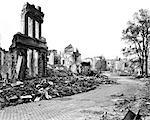 1940s RUINS OF AACHEN GERMANY DESTROYED BY ALLIED BOMBS AND WAFFEN SS AS A RESULT OF FANATIC NAZI DEFENSE
