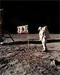 APOLLO 11 PLANTING UNITED STATES FLAG ON MOON