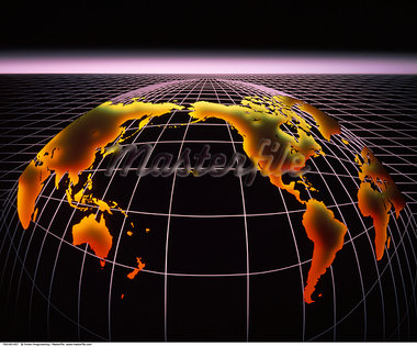 Globe on Grid    Stock Photo - Premium Rights-Managed, Artist: Imtek Imagineering, Code: 700-00001457