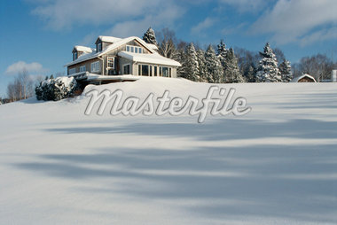 House in Winter, Shamper's Bluff New Brunswick, Canada    Stock Photo - Premium Rights-Managed, Artist: Freeman Patterson, Code: 700-00011071