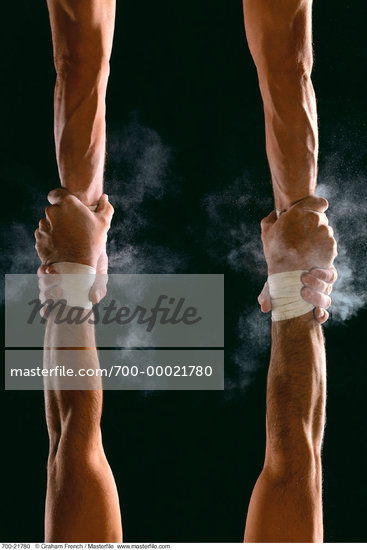 Close-Up of Trapeze Artist's Hands    Stock Photo - Premium Rights-Managed, Artist: Graham French, Code: 700-00021780