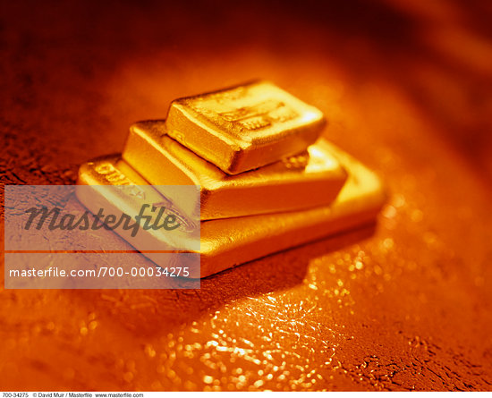 Gold Ingots    Stock Photo - Premium Rights-Managed, Artist: David Muir, Code: 700-00034275