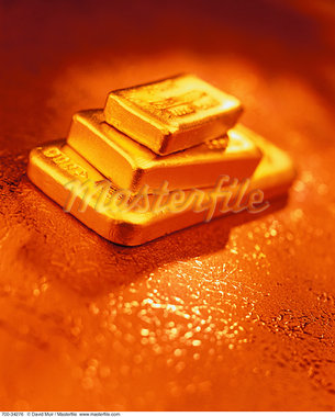 Gold Ingots    Stock Photo - Premium Rights-Managed, Artist: David Muir, Code: 700-00034276