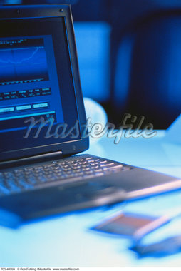 Close-Up of Laptop Computer    Stock Photo - Premium Rights-Managed, Artist: Ron Fehling, Code: 700-00048093