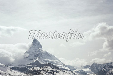 The Matterhorn and Clouds Switzerland    Stock Photo - Premium Rights-Managed, Artist: Bob Gelberg, Code: 700-00074616