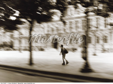 Blurred View of Person In-Line Skating, Paris, France    Stock Photo - Premium Rights-Managed, Artist: Allen Birnbach, Code: 700-00075037