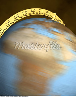 Blurred View of Globe Spinning On Stand Africa    Stock Photo - Premium Rights-Managed, Artist: Guy Grenier, Code: 700-00080713