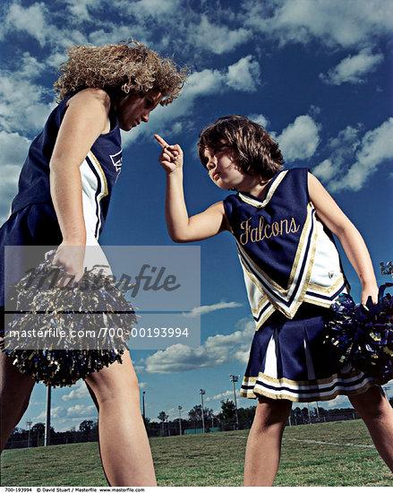 13-14 year old anger bossy girl bully bullying cheerleader cheerleaders ...