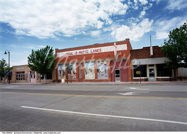 Exterior of Bowling Alley New Mexico, USA    Stock Photo - Premium Rights-Managed, Artist: David Zimmerman, Code: 700-00194443
