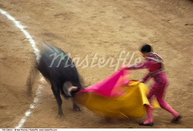 Bull Fight Mexico City, Mexico    Stock Photo - Premium Rights-Managed, Artist: Gail Mooney, Code: 700-00196011