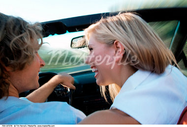 Couple in Car    Stock Photo - Premium Rights-Managed, Artist: Tim Pannell, Code: 700-00197378