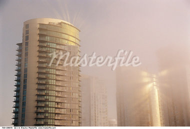 Condos in Fog    Stock Photo - Premium Rights-Managed, Artist: J. A. Kraulis, Code: 700-00198970