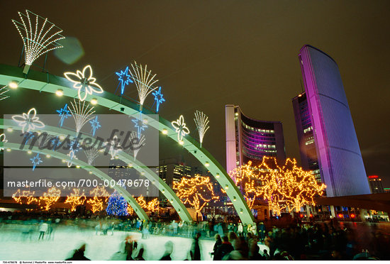 Nathan Philips Square, Toronto, Ontario, Canada    Stock Photo - Premium Rights-Managed, Artist: Rommel, Code: 700-00478678