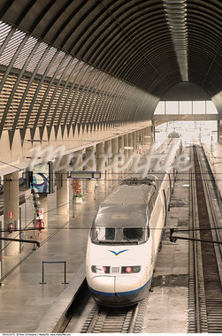 High Speed Train, Seville, Spain    Stock Photo - Premium Rights-Managed, Artist: Peter Christopher, Code: 700-00515173