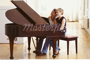 Friends Playing Music    Stock Photo - Premium Rights-Managed, Artist: Michael Goldman, Code: 700-00607719