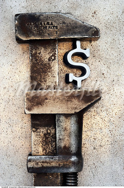 Dollar Sign in Wrench    Stock Photo - Premium Rights-Managed, Artist: David Muir, Code: 700-00608328