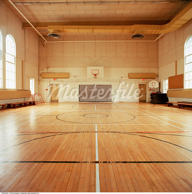Basketball Court in Gymnasium    Stock Photo - Premium Rights-Managed, Artist: Derek Shapton, Code: 700-00641202