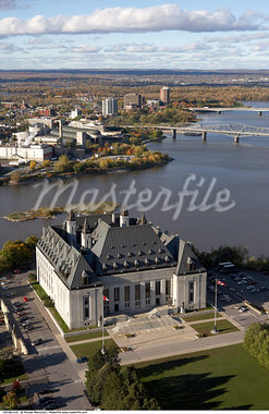 Supreme Court of Canada and the Ottawa River, Ottawa, Ontario, Canada    Stock Photo - Premium Rights-Managed, Artist: Michael Mahovlich, Code: 700-00661419