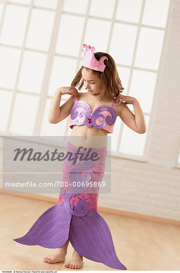 Girl in Mermaid Costume    Stock Photo - Rights-Managed, Artist: Matthew Plexman, Code: 700-00695869