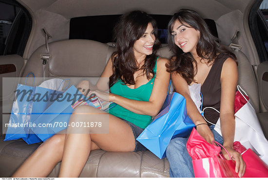 Women in Limousine    Stock Photo - Rights-Managed, Artist: Mark Leibowitz, Code: 700-00711878