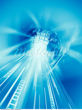 Wire Frame Globe and Binary    Stock Photo - Premium Rights-Managed, Artist: Bill Frymire, Code: 700-00712077