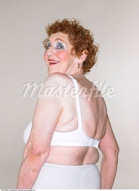 Portrait of Woman in Underwear    Stock Photo - Premium Rights-Managed, Artist: Masterfile, Code: 700-00781983