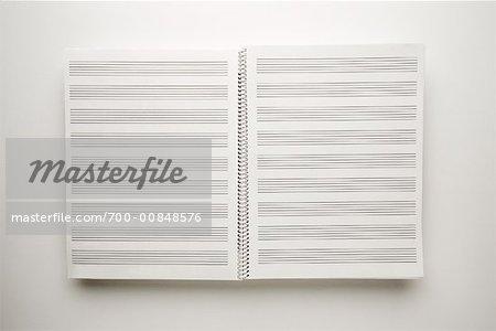 Manuscript Paper Book Open Book of Manuscript Paper