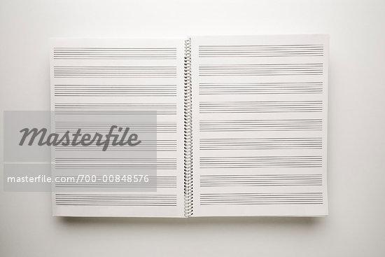 Manuscript Paper Notebook Open Book of Manuscript Paper