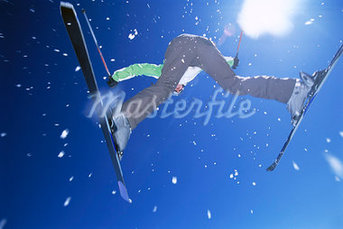 Skier Jumping    Stock Photo - Premium Rights-Managed, Artist: Bryan Reinhart, Code: 700-00865576