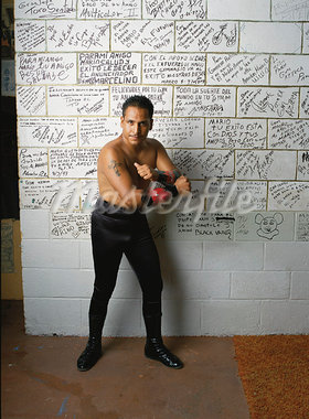 Portrait Of A Wrestler    Stock Photo - Premium Rights-Managed, Artist: Tim Mantoani, Code: 700-00911427