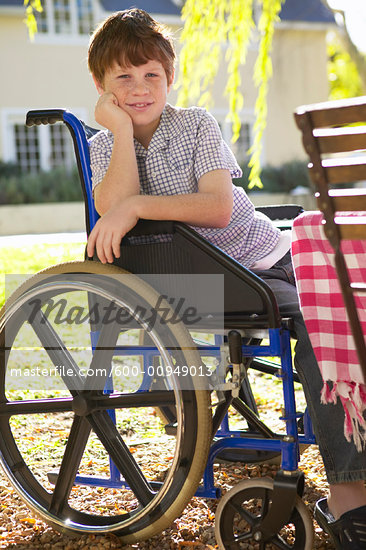 Portrait of Boy in Wheelchair