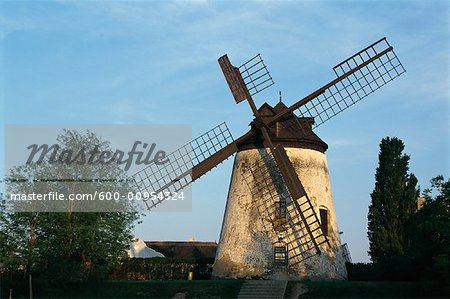 Moulin à vent, Podersdorf am See, Neusiedler See, Autriche
