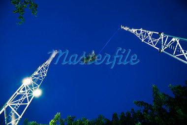Bungy Jumping, Clarke Quay, Singapore    Stock Photo - Premium Rights-Managed, Artist: R. Ian Lloyd, Code: 700-00955088