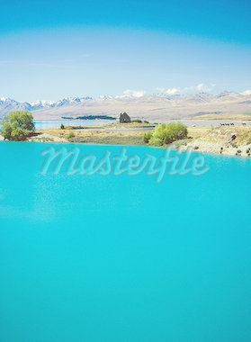 Lake Tekapo in New Zealand Stock Photo - Premium Royalty-Freenull, Code: 621-01005069