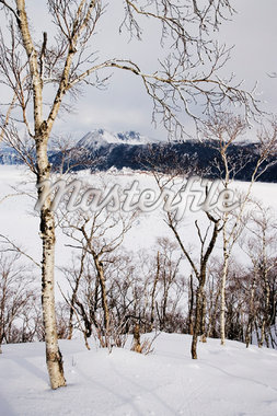 Lake Mashu-ko in Winter, Akan National Park, Hokkaido, Japan    Stock Photo - Premium Royalty-Free, Artist: Jeremy Woodhouse, Code: 600-01015197