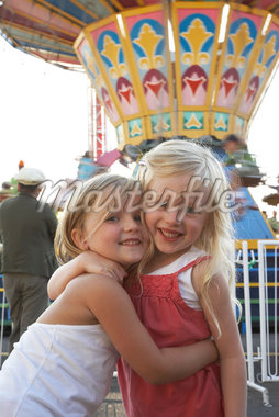 Children Hugging at Amusement Park    Stock Photo - Premium Rights-Managed, Artist: John Lee, Code: 700-01030090