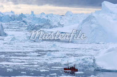 Fishing Boat near Icebergs    Stock Photo - Premium Rights-Managed, Artist: JW, Code: 700-01036709
