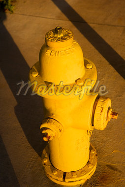 High angle view of a fire hydrant Stock Photo - Premium Royalty-Freenull, Code: 625-01039929