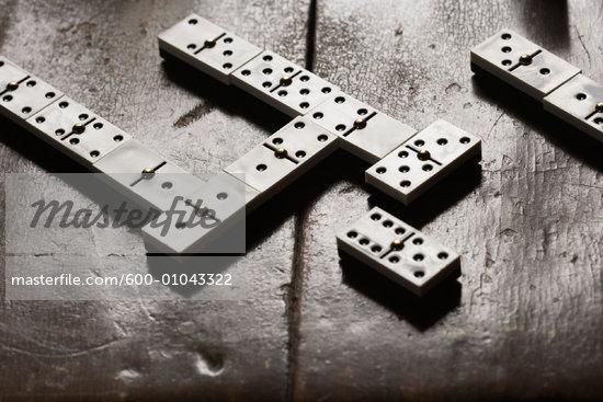 Dominoes on Tabletop